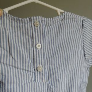 Carter's Shirts & Tops - Carter's white + blue striped blouse